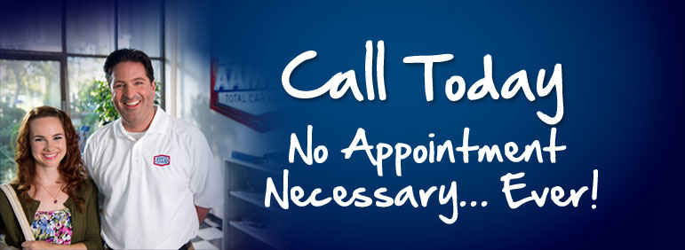 No Appointment Necessary